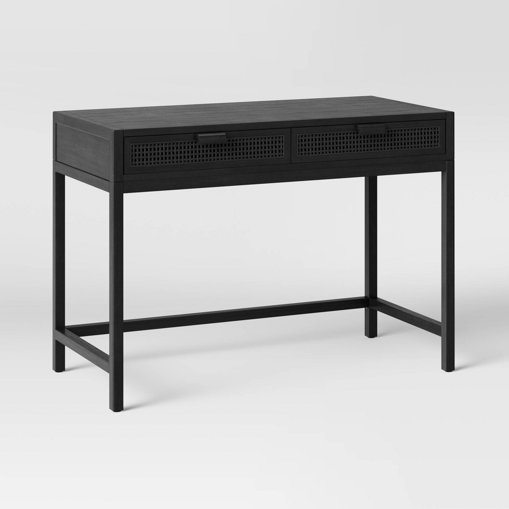 Minsmere Writing Desk With Drawers Black Opalhouse 8482