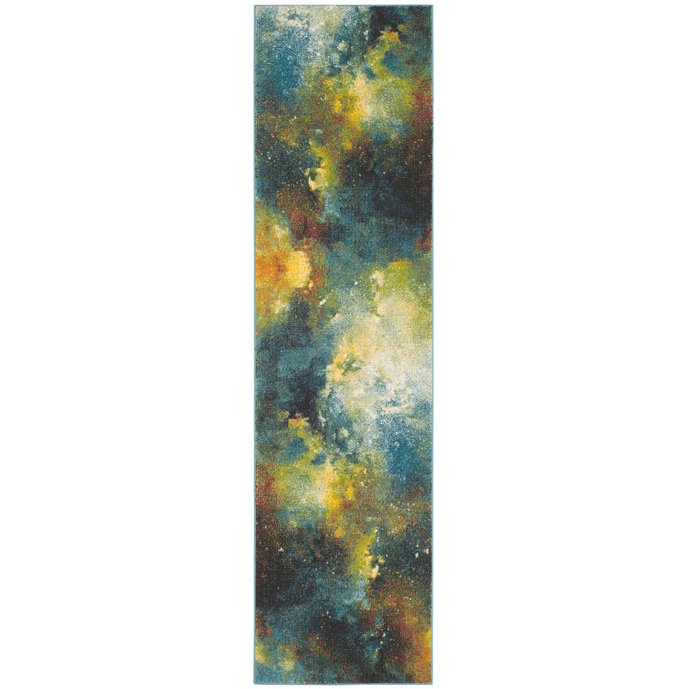 22X8 Loomed Galaxy Runner Rug Blue - Safavieh Best