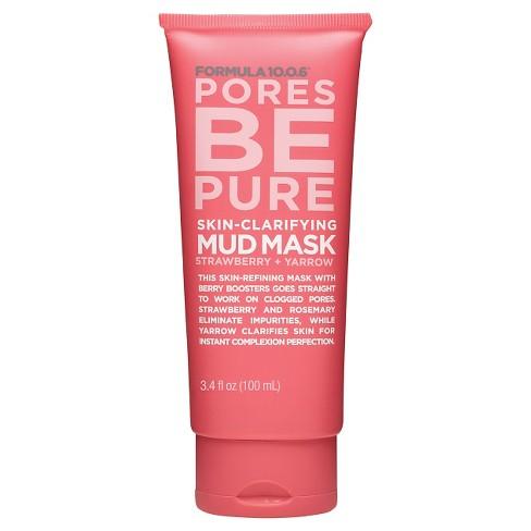 Formula 10.0.6 Pores Be Pure Mud Face Mask - 3.4oz - image 1 of 4