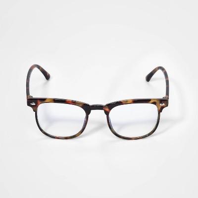 Kids' Tortoise Shell Blue Light Filtering Glasses - Cat & Jack™ Brown