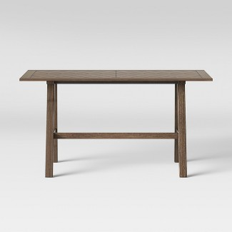 "60"" Eastford Groove Dining Table Brown - Threshold™"