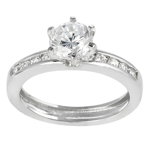 7 CT. T.W. Round-cut Cubic Zirconia Bridal-style Prong Set Ring in Sterling Silver - Silver - image 1 of 2