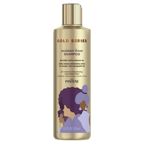 Gold Series from Pantene Moisture Boost Shampoo with Argan Oil for Curly, Coily Hair - 9.1 fl oz - image 1 of 4