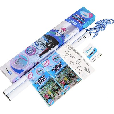 South Beach Bubbles WOWmazing Winter Giant Bubble Kit   Wand + 2 Packets Bubble Concentrate + 8 Stickers