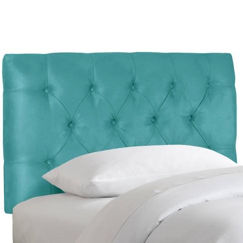 Kids Full Edwardian Tufted Headboard Blue Pillowfort Target