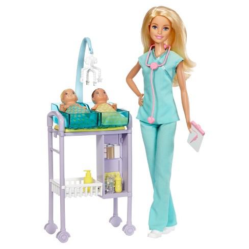 Barbie Careers Baby Doctor Doll & Playset : Target