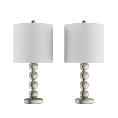 Set of 2 Contemporary Stacked Balls Table Lamps