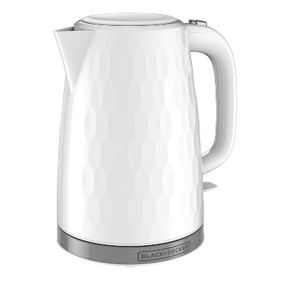 BLACK+DECKER 1.7L Electric Kettle - White