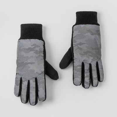 Boys' Camo Gloves - Cat & Jack™ Gray