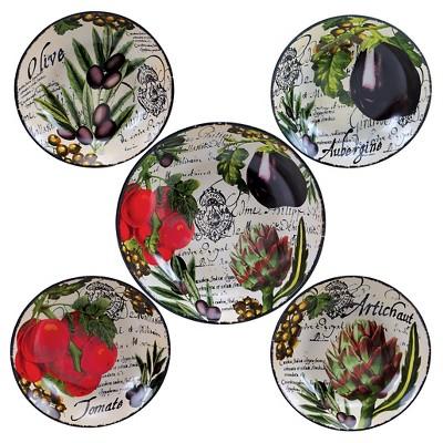 Certified International Botanical Veggies 5pc Bowl Set