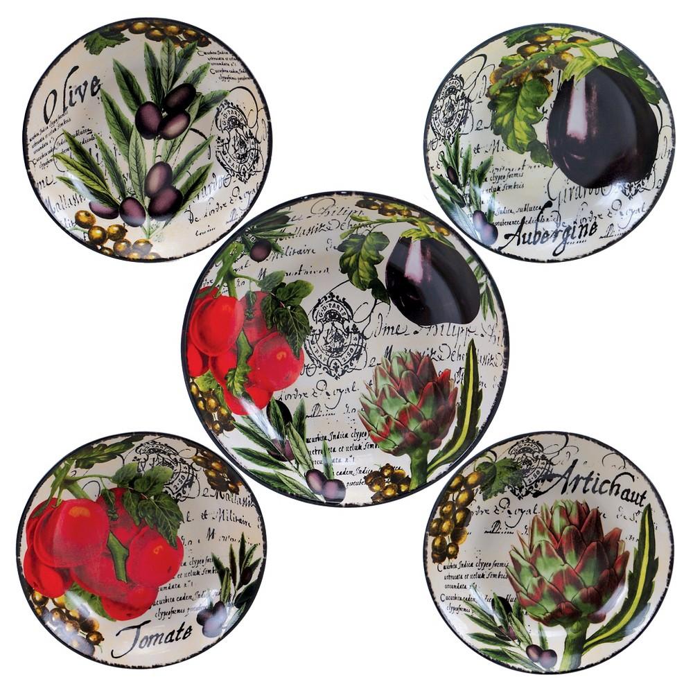 Image of Certified International Botanical Veggies 5pc Bowl Set