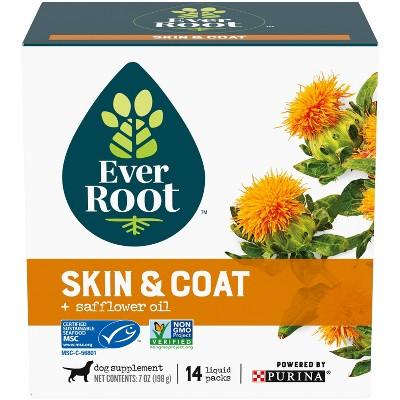 Purina EverRoot Natural, Organic Skin & Coat Supplement Liquid Packs for Dogs - 14ct