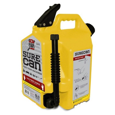 SureCan 5 Gallon 19 Liter Self Venting Diesel Fuel Can w/ Rotating Spout, Yellow