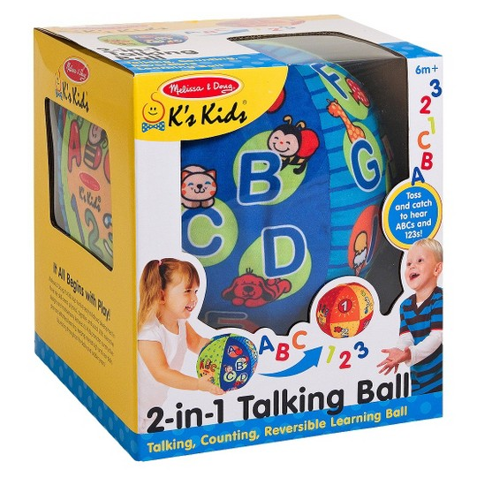 Melissa & Doug K's Kids 2-in-1 Talking Ball Educational Toy - ABCs and Counting 1-10 image number null