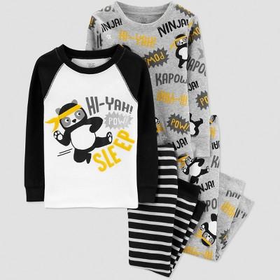 Baby Boys' 4pc Panda Pajama Set - Just One You® made by carter's Black 12M