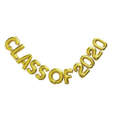 """Class of 2020"" Graduation Foil Balloon Gold - Spritz™ - image 1 of 1"