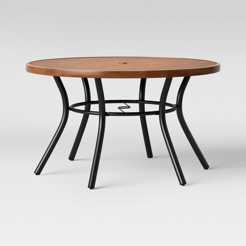 Cool Southport Wood Textured Metal Top Patio Dining Table Brown Black Opalhouse Ibusinesslaw Wood Chair Design Ideas Ibusinesslaworg