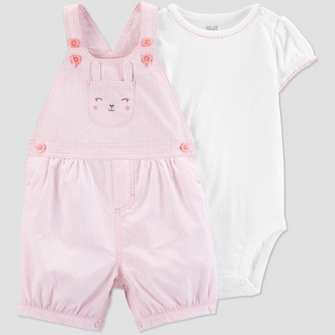 6ee2e3f978 Baby Girls  2pc Bunny Shortall Set - Just One You® made by carter s Pink  White