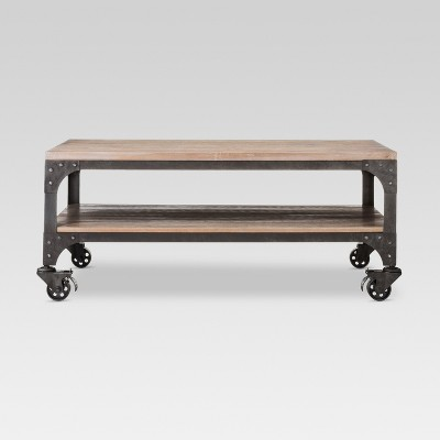 Franklin Coffee Table Wood Brown/Weathered Gray - Threshold™