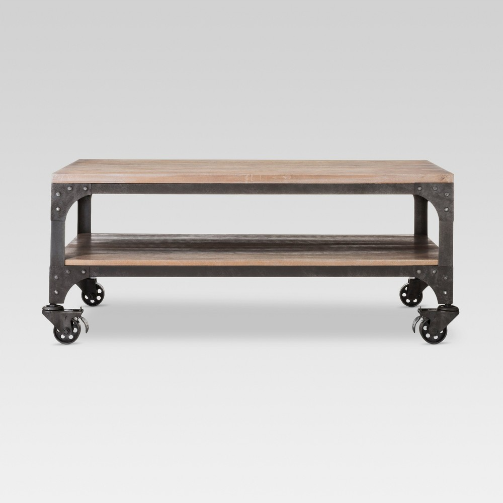 Franklin Coffee Table Wood Brown/Weathered Gray - Threshold was $180.0 now $90.0 (50.0% off)