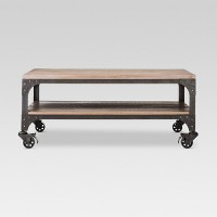 Threshold Franklin Coffee Table Wood Brown/Weathered Gray Deals