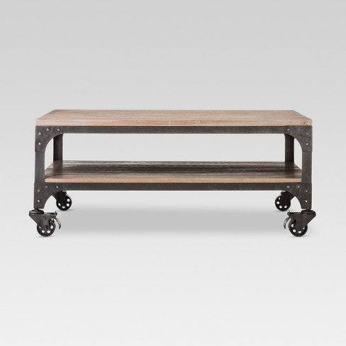 Franklin Coffee Table Wood Brown/Weathered Gray - Threshold™ - image 1 of 7