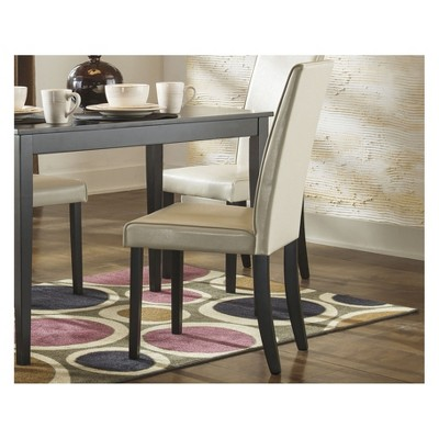 Kimonte Dining Upholstered Side Chair (Set Of 2) Ivory   Signature Design  By Ashley : Target