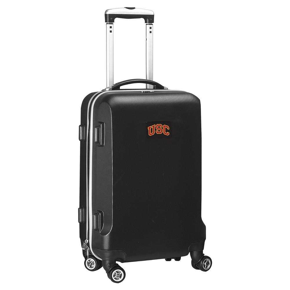NCAA Usc Trojans Black Hardcase Spinner Carry On Suitcase