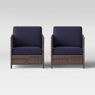 Monroe 2pk Wicker Motion Patio Club Chair - Threshold™