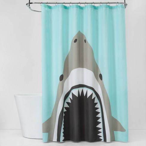 Shark Bite Shower Curtain - Pillowfort™ - image 1 of 2