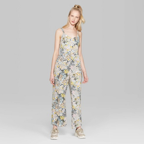 4a7cb9c92748 Women's Floral Print Strappy Jumpsuit - Wild Fable™ : Target