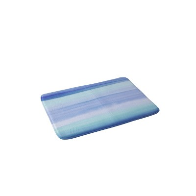 "24"" x 36"" Ombre Blue Bath Rug Blue - Deny Designs"