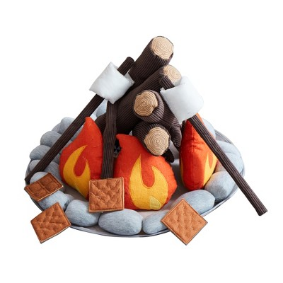 Smores Stuffed Animal, Asweets Kids Campout Camp Fire And S Mores Super Soft Plush Pillow Child Toy Camping Pretend Imaginative Play Set For Ages 3 And Up 16 Piece Target