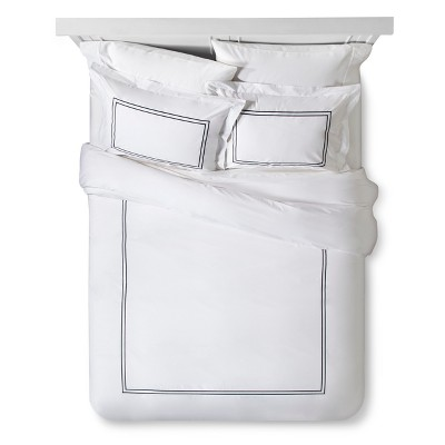 Classic Hotel Duvet Cover Set King - White & Black - Fieldcrest™