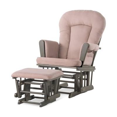 Child Craft Tranquil Glider - Dapper Gray/Pink Microfiber