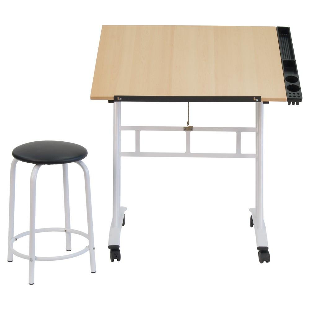 Studio Craft Center - White/Maple, White/Brown