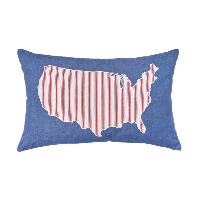C&F Home USA Denim July 4th Pillow