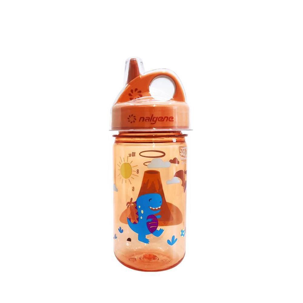 Image of Nalgene Grip N Gulp Toddler Cups - Volcano Print 12oz, Orange