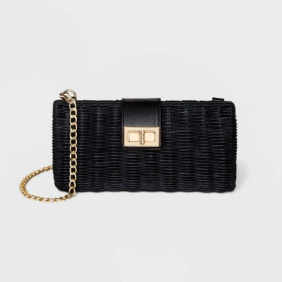 Estee & Lilly Turn Key Closure Clutch - Black