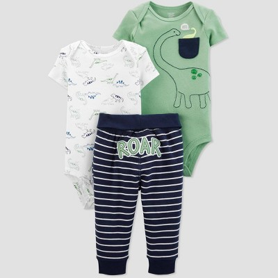 Baby Boys' 3pc Dino Top And Bottom Set - Just One You® made by carter's Green/White/Blue 3M