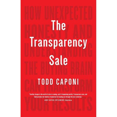 The Transparency Sale - by  Todd Caponi (Hardcover) - image 1 of 1