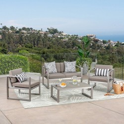 Navan 4pc Aluminum Seating Set - Christopher Knight Home
