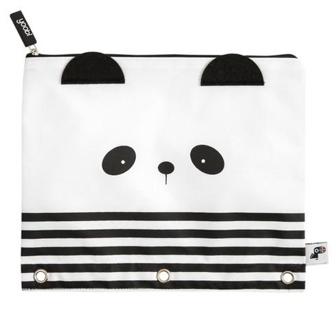 Yoobi Panda Binder Zip Case Black And White Target