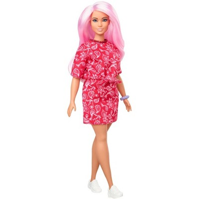 Barbie Fashionistas Doll - Red Paisley Top & Skirt