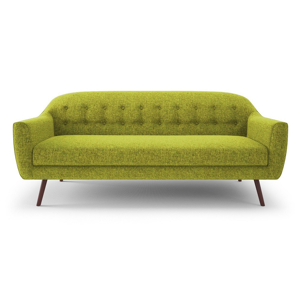 Casey Modern Curved Tufted Back Sofa - Green - Aeon