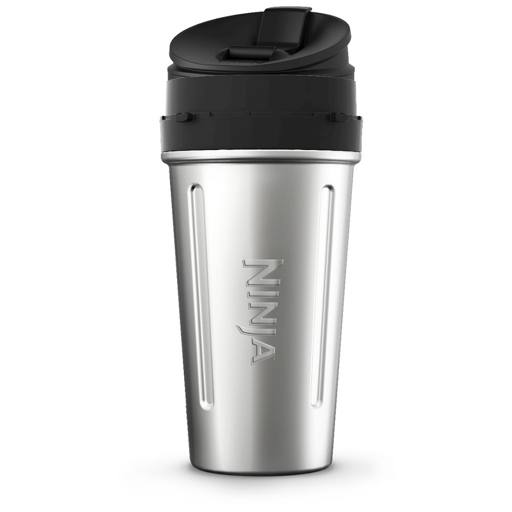 Image of 24 oz. Stainless Steel Nutri Ninja Cup with Sip & Seal Lid, Silver