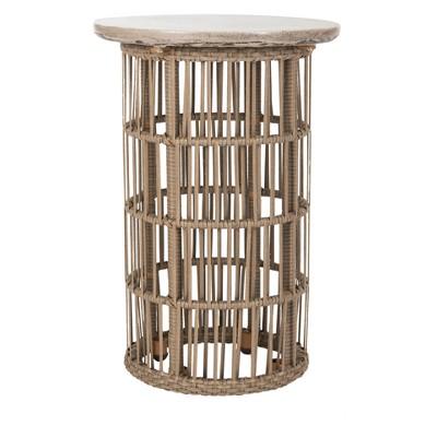 Fane Modern Concrete Round Side Table - Dark Gray - Safavieh