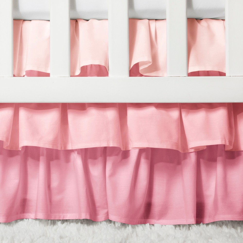 Image of Crib Skirt Ruffle - Cloud Island Pink