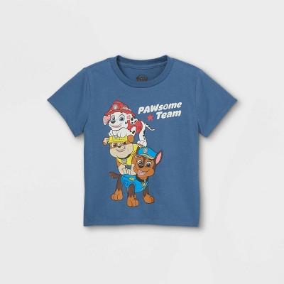 Toddler Boys' PAW Patrol Short Sleeve Graphic T-Shirt - Blue