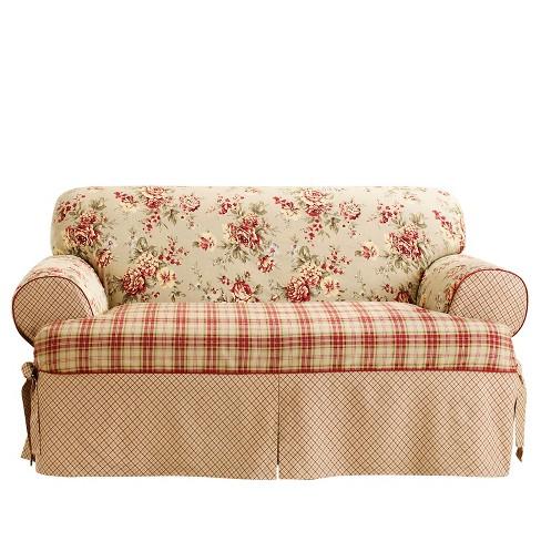 Lexington T Sofa Slipcover Red Sure Fit